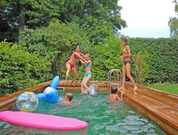 pool für kleinen garten praktisch und platzsparend gestalten, Gartenarbeit ideen