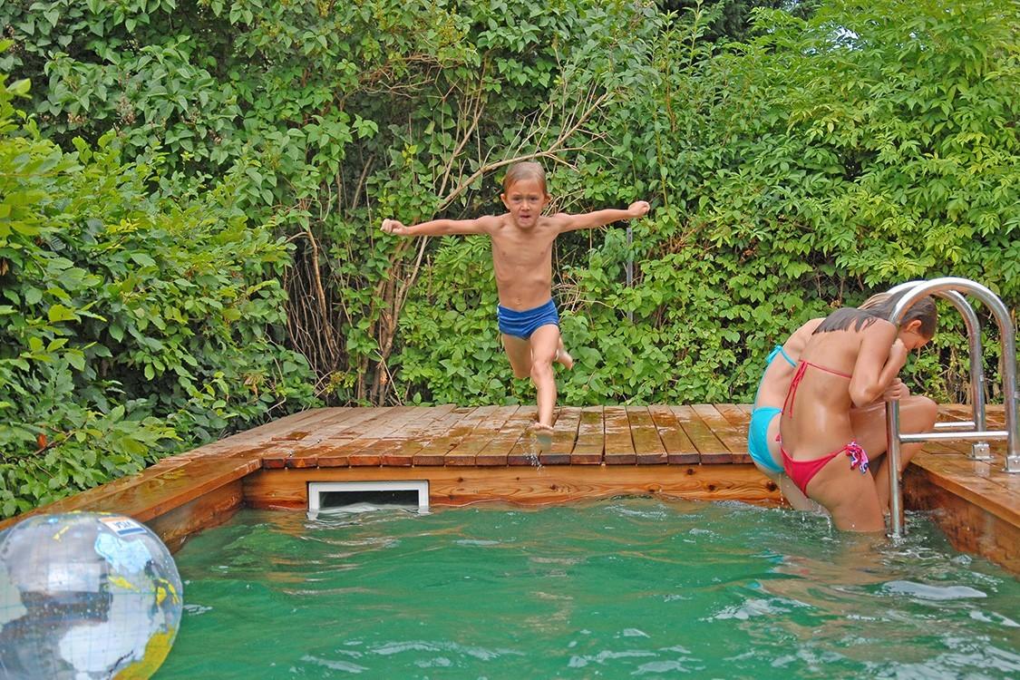 Biotop bio pool f r mini garten mitten in wien - Swimmingpool garten ...