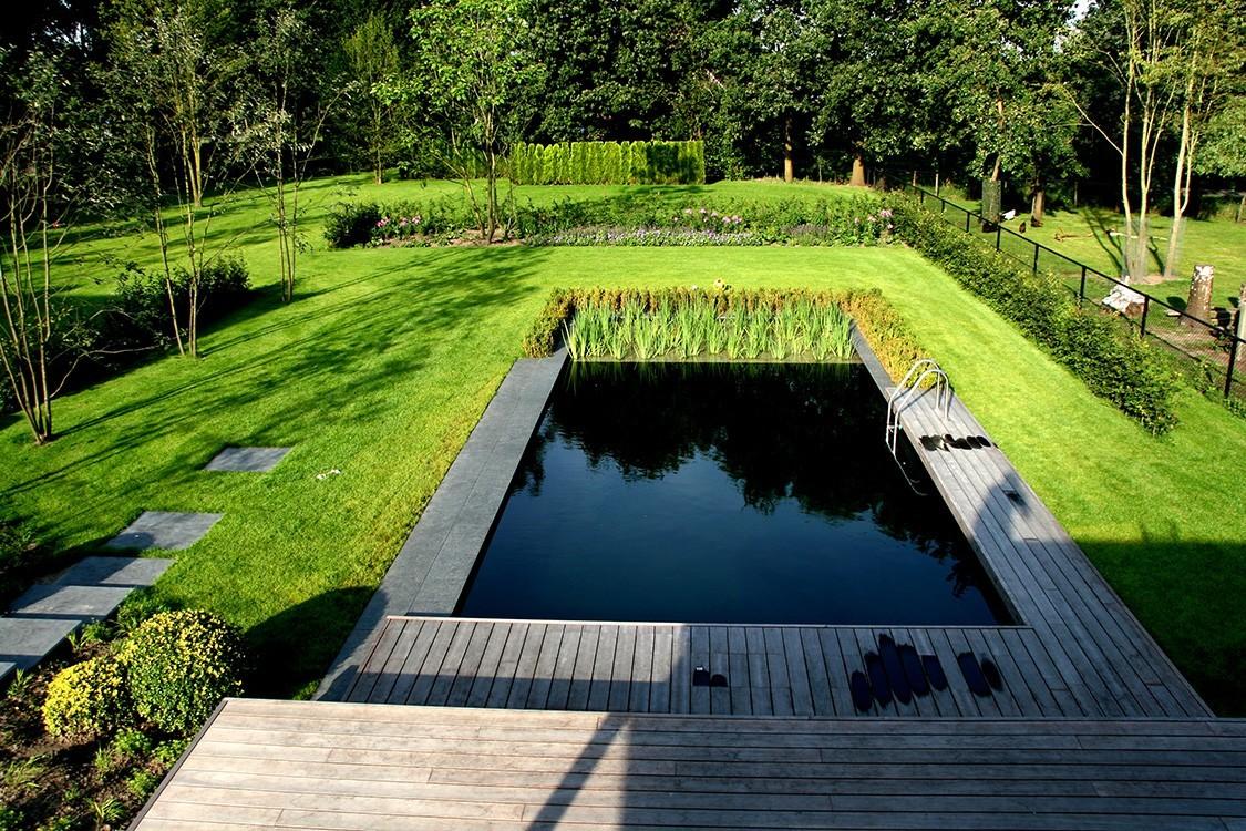 biotop bio pool mit geraden und klaren linien. Black Bedroom Furniture Sets. Home Design Ideas