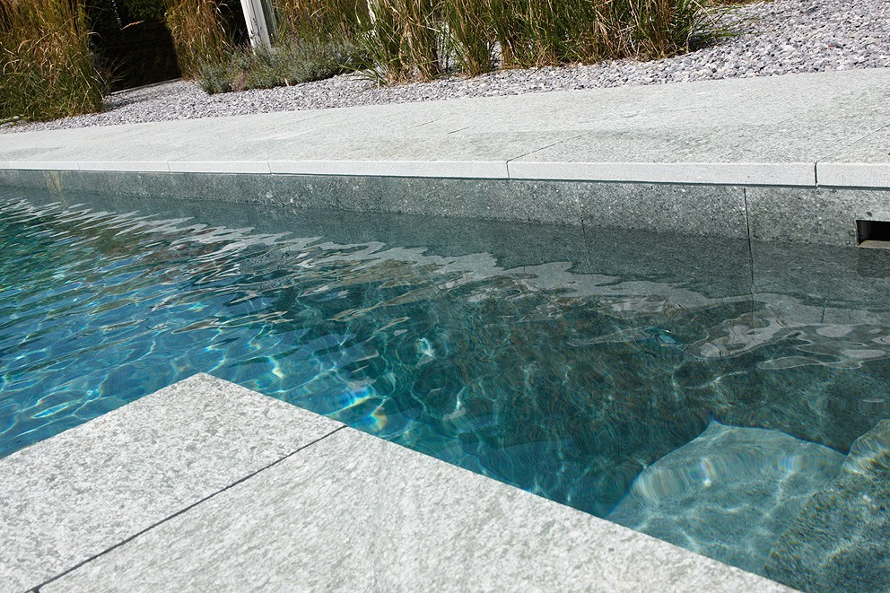 Biotop bio pool aus granit for Poolrand gestalten