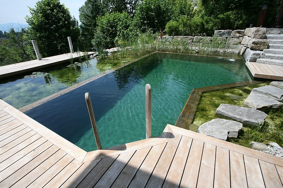 Biotop schwimmteich in extremer hanglage for Pool design kg